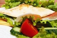 Closeup of a fresh sandwich