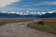 Dirt road of Estancia Cristina in Los Glaciares National Park