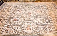 Mosaic floor in the Planetarium. Roman city of Italica