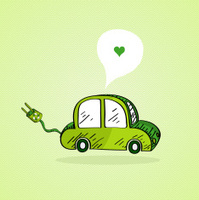 I love green electric car energy