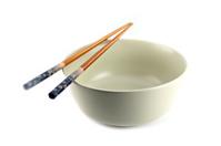 Bowl and chopsticks.