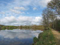 Nantes to Brest canal in spring, Guenrouet area