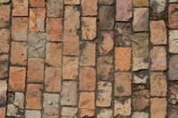 Concrete bricks pattern on a street.