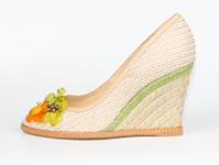 Pretty casual textile ladies shoe