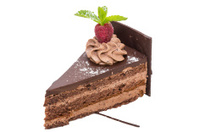 coffee cake with chocolate cream