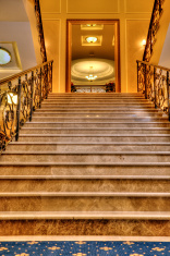 stairway in modern home