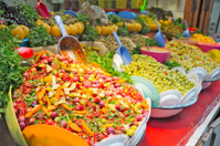 Food on sale in Marrakech, Morocco