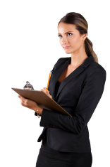 Human resources woman checklist