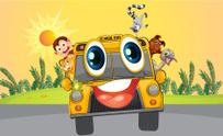 School bus with animals