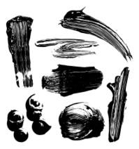 grunge paint elements