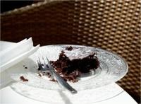 Chocolate brownie in Tel Aviv Cafe