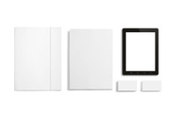 Blank Stationery set isolated on white.