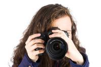 teen taking a photo