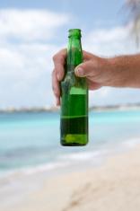 Beer Bottle in Paradise