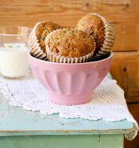 Flax lemon poppy seed muffins