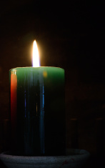 Candle. Tranquility concept.