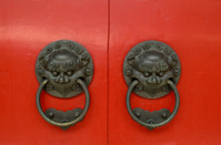 handle of Chinese temple in Singapore
