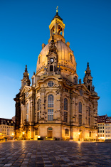 Dresden, Frauenkirche at night
