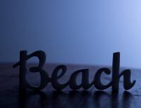 Silhouette of Beach