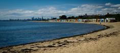 Beach bathing boxes