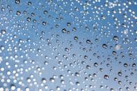 Rain drops on roof window