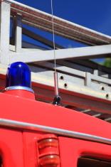 Ladder of a fire truck