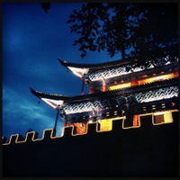Illuminated gate of Dali