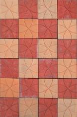 Colorful concrete tiles