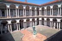 Internal courtyard of Pinacoteca di Brera, Milan