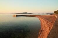 Gravel beach in Vodice (Croatia)