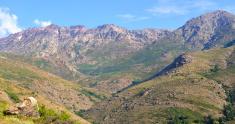 Corsica mountains panorama