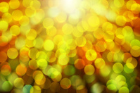 Gold blur bokeh with light ray abstract background