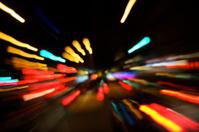 City Street Traffic Night Zoom