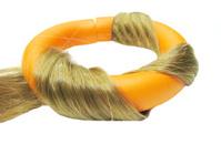 orange roller in hair wave