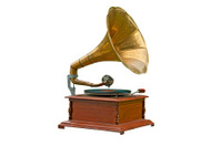 Old gramophone