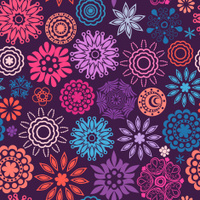 Abstract retro doodle pattern