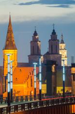 Churches in Kaunas, Lithuania. Vytautas the Great (Aleksotas) Br