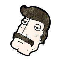 cartoon man with impressive mustache