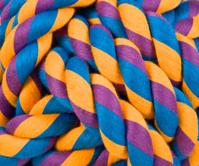 Purple Blue Orange Braided Woven Rope Macro