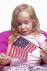 Girl with a flag