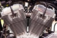 Motorcycle engine.