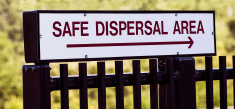 Emergency Safe Dispersal Evacuation Area Sign