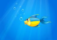 deep sea with a fish