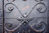 vintage metal doors fragment