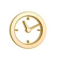 golden clock symbol