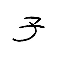 Chinese characters 'zi'