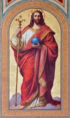 Vienna - Fresco of  Jesus Christ as King