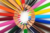 Color pencils. Educational concept.