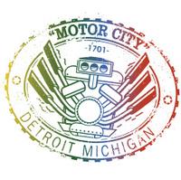 Vintage Detroit Stamp