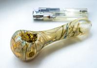 Marijuana pipe and lighter